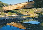 Covered bridge over South Yuba River