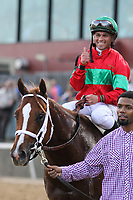 HOT SPRINGS, AR - March 18: Jockey Javier Castellano gives a thumbs up aboard Malagacy #6 following the pair's victory in the Rebel Stakes (Gr.2) at Oaklawn Park on March 18, 2017 in Hot Springs, AR. (Photo by Ciara Bowen/Eclipse Sportswire/Getty Images)