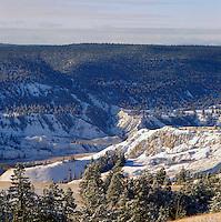 Cariboo Chilcotin Coast Region, BC, British Columbia, Canada - near Farwell Canyon, Winter
