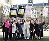 Women from the original Dagenham equal pay strike and Stars from cast of hit musical 'Made in Dagenham' at House of Commons for Pay Transparency vote<br /> <br /> 16th December 2014 <br /> outside Parliament <br /> <br /> Parliament will next week vote on the implementation of section 78 of the Equality Act (2010) to require large companies to publish their pay gap. <br /> <br /> <br /> Gwen Davis<br /> Eileen Pullen <br /> Gloria De Piero MP<br /> Gemma Arterton <br /> actress currently appearing in made in Dagenham <br /> Vera Sime<br /> Sheila Douglass<br /> <br /> <br /> <br /> <br /> Photograph by Elliott Franks <br /> Image licensed to Elliott Franks Photography Services