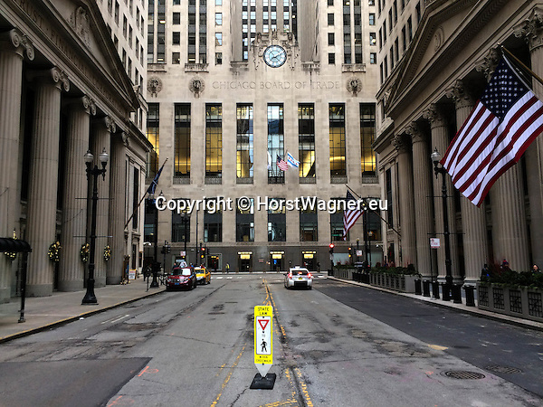 Chicago, Illinois, United States of America / USA; December 28, 2016 -- Chicago Board of Trade Building, Art Deco masterpiece; landmark -- Photo: © HorstWagner.eu