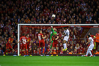 LIVERPOOL, ENGLAND - Thursday, October 4, 2012: Liverpool's goalkeeper Jose Reina in action against Udinese Calcio during the UEFA Europa League Group A match at Anfield. (Pic by David Rawcliffe/Propaganda)