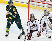 Matt White (UVM - 19), Patrick Wey (BC - 6) - The Boston College Eagles defeated the University of Vermont Catamounts 4-1 on Friday, February 1, 2013, at Kelley Rink in Conte Forum in Chestnut Hill, Massachusetts.