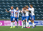 Kilmarnock v St Johnstone&hellip;09.04.16  Rugby Park, Kilmarnock<br />Kris Boyd celebrates his goal<br />Picture by Graeme Hart.<br />Copyright Perthshire Picture Agency<br />Tel: 01738 623350  Mobile: 07990 594431