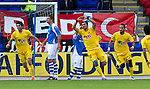 St Johnstone v Eskisehirspor...26.07.12  Europa League Qualifyer.Veysel Sari celebrates his goal.Picture by Graeme Hart..Copyright Perthshire Picture Agency.Tel: 01738 623350  Mobile: 07990 594431