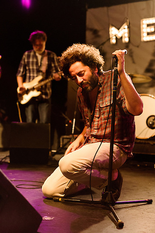 July 25, 2014. Carrboro, North Carolina.<br />  Dan Bejar of Destroyer.<br />  Day three of the MERGE 25 festival, celebrating the 25 year history of the independent record label.