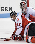 C.J. Lee (RPI - 22), Chris Rawlings (Northeastern - 37) - The visiting Rensselaer Polytechnic Institute Engineers tied their host, the Northeastern University Huskies, 2-2 (OT) on Friday, October 15, 2010, at Matthews Arena in Boston, MA.