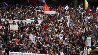 BOGOTA -COLOMBIA , 18- MARZO-2016.  Marcha en apoyo al paro nacional./  the march  of the national strike.Photo: VizzorImage / Felipe Caicedo / Staff