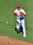 24 September 2012: Washington Nationals second baseman Danny Espinosa in action against the Milwaukee Brewers at Nationals Park in Washington, DC. The Nationals defeated the Brewers 12-2 in the final game of their 4-game series, splitting the series at two. Mandatory Credit: Ed Wolfstein Photo