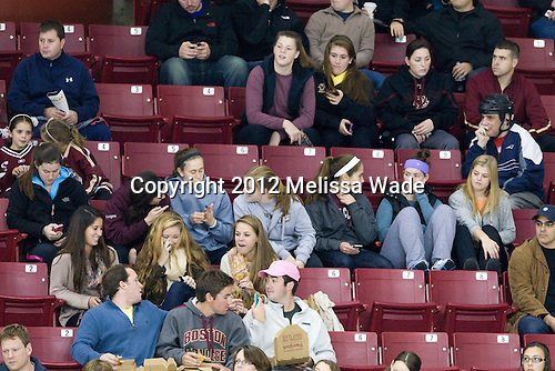 The BC women's hockey team attended the game. - The Boston College Eagles defeated the visiting University of Massachusetts Lowell River Hawks 6-3 on Sunday, October 28, 2012, at Kelley Rink in Conte Forum in Chestnut Hill, Massachusetts.