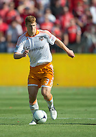 July 28, 2012: Houston Dynamo defender Andre Hainault #31in action during a game between Toronto FC and the Houston Dynamo at BMO Field in Toronto, Ontario Canada..The Houston Dynamo won 2-0.