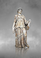 Roman marble sculpture known as the 'Flora Maggiore' , a 2nd century AD, inv no 5978 Farnese Collection, Naples  Museum of Archaeology, Italy