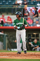 Daytona Tortugas second baseman Shed Long (4) at bat during a game against the Florida Fire Frogs on April 6, 2017 at Osceola County Stadium in Kissimmee, Florida.  Daytona defeated Florida 3-1.  (Mike Janes/Four Seam Images)