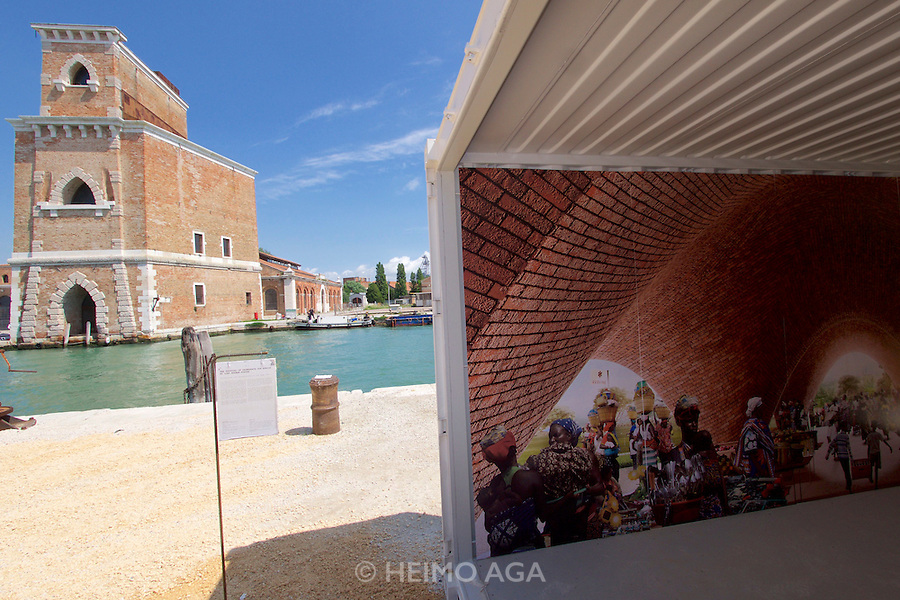 Venice, Italy - 15th Architecture Biennale 2016, &quot;Reporting from the Front&quot;.<br /> Arsenale.<br /> Norman Foster Foundation,<br />