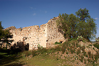 Ruined building at the  the 19th century Mina Santa Brigida mine, Mineral de Pozos, Guanajuato, Mexico