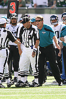 09/18/11 East Rutherford, NJ: Jacksonville Jaguars head coach Jack Del Rio during an NFL game played at Met Life Stadium between the New York Jets and the Jacksonville Jaguars. The Jets defeated the Jaguars 32-3