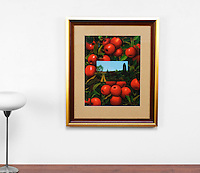 "Preston: Red Apples, Digital Print, Image Dims. 16"" x 20.5"", Framed Dims. 30.5"" x 25.5"""