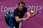 Mcc0041438 . Daily Telegraph..DT Sport..2012 Olympics..Andy Murray vs Nicolas Almagro on No1 Court in the Olympic Tennis Men's Singles Quarter Finals...2 August 2012...