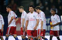 FUSSBALL   1. BUNDESLIGA    SAISON 2012/2013    8. Spieltag   Hamburger SV - VfB Stuttgart            21.10.2012 Tolgay Arslan (vorn, Hamburger SV)  ist nach dem Abpfiff enttaeuscht