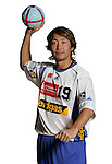 Handball Bundesliga 2005/2006 Autogrammkarten Concordia Delitzsch Shinnosuke UEMATSU (Concordia) Autogrammkarte, Portrait, Ball, Studio, Freisteller.