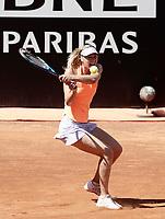 La tennista russa Maria Sharapova in azione nel corso degli Internazionali d'Italia di tennis a Roma, 15 maggio 2017.<br /> US tennis player Maria Sharapova in action during the italian Masters tennis in Rome, May 15,2017.<br /> UPDATE IMAGES PRESS/Isabella Bonotto