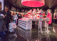 Shoppers in the Victoria's Secret store in the Queens Center Mall in the borough of Queens in New York on the so-called Super Saturday, December 219 2015. Super Saturday is the Saturday prior to Christmas.  (© Richard B. Levine)