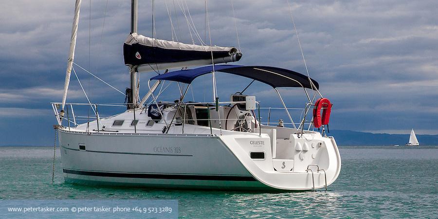 Celeste at anchor