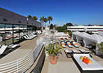 Outdoor tanning deck at Sports Club LA