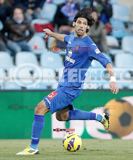 Getafe's Angel Lafita during La Liga match.December 01,2012. (ALTERPHOTOS/Acero) ©/NortePhoto