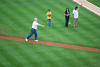 Ceremonial First Pitch at Comerica Park in Detroit, MI