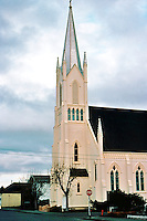 Ferndale CA:  Church of the Assumption, R.C. C. 1880's. Victorian Gothic Revival.  Photo '83.