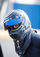 Sep 16, 2016; Concord, NC, USA; NHRA funny car driver John Bojec during qualifying for the Carolina Nationals at zMax Dragway. Mandatory Credit: Mark J. Rebilas-USA TODAY Sports