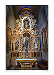 Altar, St. Peter Church, Petra, Mallorca, Spain by Larry Angier.