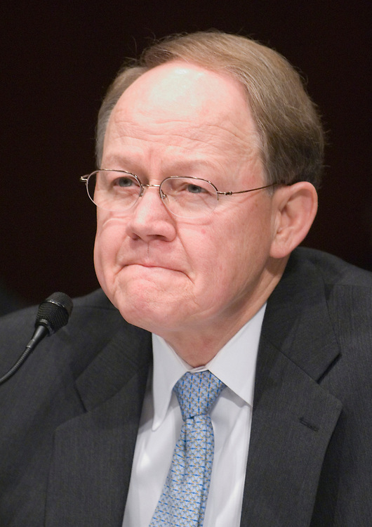 National Intelligence Director Mike McConnell testifies during the Senate Armed Services Committee hearing on current and future worldwide threats to the national security of the United States on Wednesday, Feb. 27, 2008.