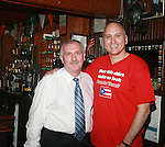 TJ Byrnes Owner Thomas Byrnes and Pedro E. Acevedo  Attend Book Signing for When Hope Is Gone: The Story of Papo Salsa by Pedro E Acevedo Held at TJ Byrnes, NY 5/28/2011