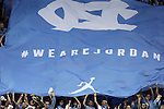 07 March 2015: UNC fans unfurl a large banner. The University of North Carolina Tar Heels played the Duke University Blue Devils in an NCAA Division I Men's basketball game at the Dean E. Smith Center in Chapel Hill, North Carolina. Duke won the game 84-77.