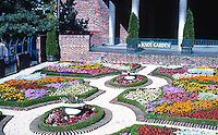 """Victoria: Centennial Square, """"Knot Garden"""". The geometric patterns are called """"knots"""", styled after Wolseys at Hampton Court."""
