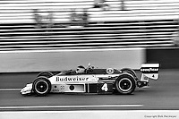 HAMPTON, GA - APRIL 22: Johnny Rutherford drives his McLaren M24B/Cosworth TC during the Gould Twin Dixie 125 event on April 22, 1979, at Atlanta International Raceway near Hampton, Georgia.