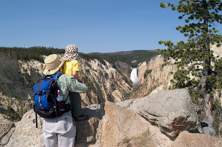 WY: Wyoming, Yellowstone National Park:.Lower Falls on the Yellowstone River..Photo #: yellow1103..Photo copyright Lee Foster, 510/549-2202, lee@fostertravel.com, www.fostertravel.com..