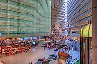 Hyatt Regency San Francisco, Luxury hotel with a 17-story atrium lobby, Interior