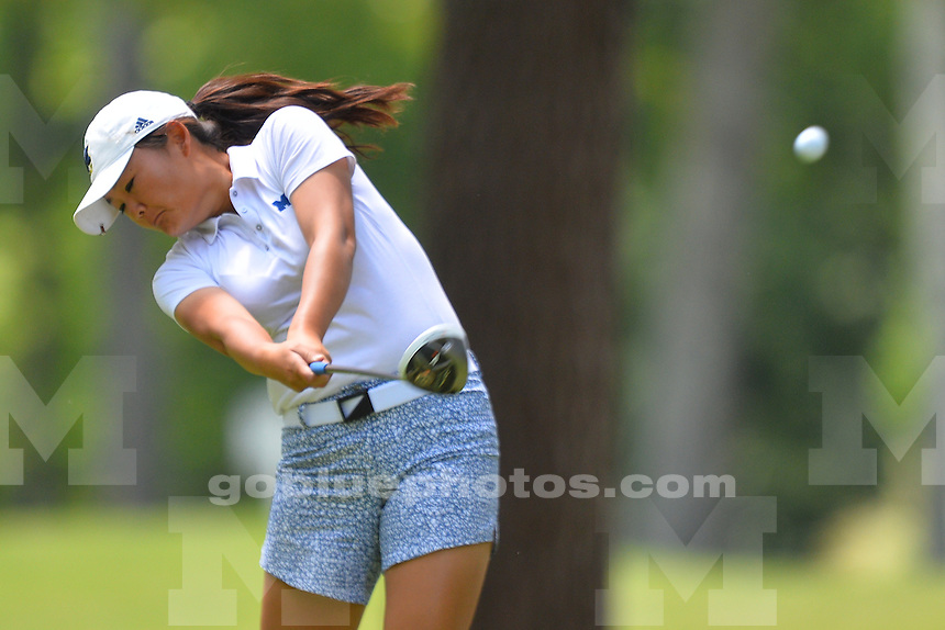 Moving day in Alabama as teams compete on day two of the 2016 NCAA Women's Golf Shoal Creek Regional at Shoal Creek Country Club on Friday, May 06, 2016 in Birmingham, Alabama.