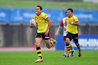Mohamad Faiz Abdul Rashid of Malaysia runs in a try. FISU World University Championship Rugby Sevens Men's 7th/8th/9th place match between the Czech Republic and Malaysia on July 9, 2016 at the Swansea University International Sports Village in Swansea, Wales. Photo by: Patrick Khachfe / Onside Images