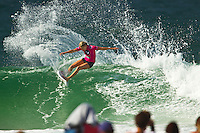 SNAPPER ROCKS, Queensland/Australia (Tuesday, February 28, 2012) Stephanie Gilmore (AUS). – The Roxy Gold Coast presented by Land Rover, the opening stop on the 2012 Women's ASP World Championship Tour, today whittled the field down to the just four women with the world's best surfers tested in tricky two-to-three foot (1 metre) surf at Snapper Rocks.. .Tyler Wright (AUS), 17, runner-up at the 2011 Roxy Pro, eliminated reigning ASP Women's World Champion and defending event winner Carissa Moore (HAW), 19, in a re-match of last year's Final. Wright was ferocious in her assault on the waves at Snapper Rocks, posting two excellent scores en route to causing the biggest upset of the event.. .Wright will face compatriot Laura Enever (AUS), 20, in the Semifinals of the Roxy Pro Gold Coast when competition resumes.. .Sally Fitzgibbons (AUS), 21, 2011 ASP Women's World Runner-Up, clocked a pair of scores in the 8-point-range to eliminate newcomer Malia Manuel (HAW), 18, in today's Quarterfinals. Manuel would end up with Eqaul 5th and bragging rights as the highest placed rookie at the 2012 Roxy Pro..  .Fitzgibbons will take on four-time ASP Women's World Champion Stephanie Gilmore (AUS), 24, in the Semifinals when competition resumes. The Gold Coast natural-footer seems to have found her form at the Roxy Pro Gold Coast and will be a dangerous draw when the event recommences.. Photo: joliphotos.com