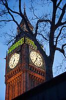 Big Ben, London UK early evening