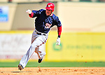 10 March 2010: Washington Nationals' infielder Pete Orr in action during a Spring Training game against the St. Louis Cardinals at Roger Dean Stadium in Jupiter, Florida. The Cardinals defeated the Nationals 6-4 in Grapefruit League action. Mandatory Credit: Ed Wolfstein Photo