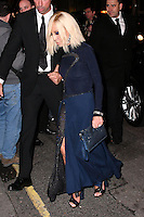 LONDON, ENGLAND - OCT 31: Donatella Versace at Harper's Bazaar annual Women of the Year Awards, which celebrates female high-fliers, at Claridge's on October 31st, 2016 in London, England.<br /> CAP/JOR<br /> &copy;JOR/Capital Pictures /MediaPunch ***NORTH AND SOUTH AMERICA ONLY***
