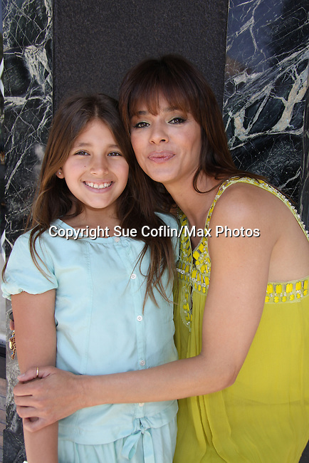 """Young and Restless, Gladise Ramirez """"Ramona"""" and daughter Simone attends The Premiere Book Signing of """"It's All About Dorothy"""" - a wonderful new children's book and song which includes a cd telling the story of """"The Wizard of Oz"""" on April 10, 2011 at Chevalier's Books, Los Angeles, California. (Photos by Sue Coflin/Max Photos)"""