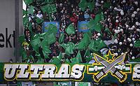 Fussball 1. Bundesliga :  Saison   2012/2013   9. Spieltag  27.10.2012 SpVgg Greuther Fuerth - SV Werder Bremen Fankurve von Werder Bremen mit einem Banner ULTRAS
