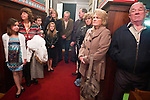 Worshipers pack the small chapel during Christmas Eve Vigil Service, St. Sava Serbian Orthodox Church, Jackson, Calif.