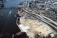 1983 September..Redevelopment.Downtown South (R-9)..AERIAL VIEW.HARBOR PARK SITE.LOOKING WEST...NEG#.NRHA#..